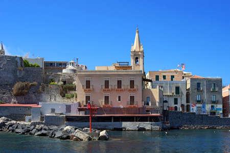 panarea: Partial view of the little harbor of Lipari