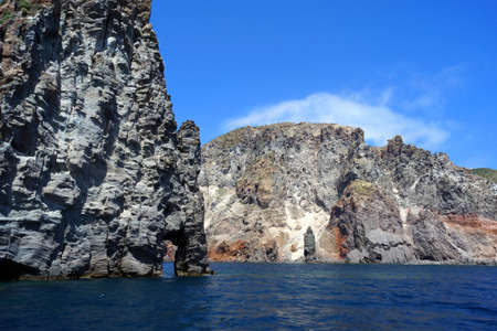 islets: Islets and faraglioni of the Aeolian islands Stock Photo