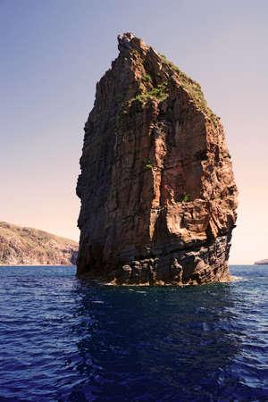 panarea: Islets and faraglioni of the Aeolian islands Stock Photo