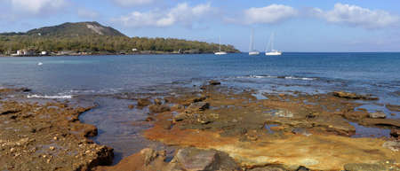 filicudi: Islands of the Aeolian islands  view of Vulcano