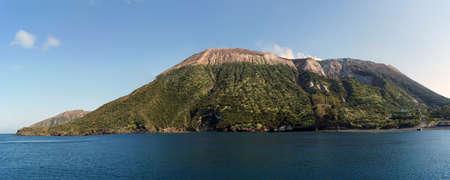 Eilanden van de Eolische eilanden weergave van Vulcano