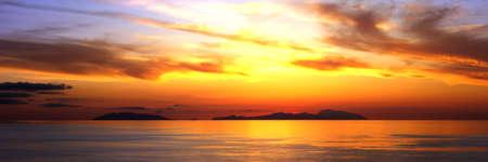 Sunset on the Aeolian islands