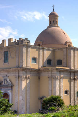 desecrated: The ancient cathedral of Milazzo  detail Stock Photo