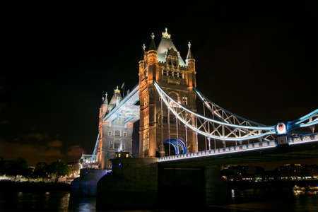 Londen bij nacht Stockfoto