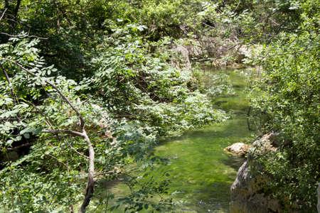 solarize: The river of Cavagrande in Sicily