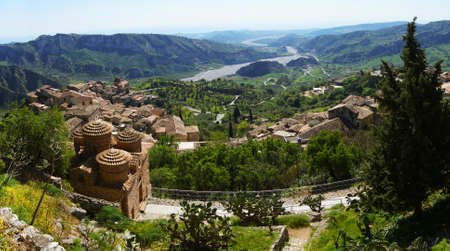 Cattolica and Bivongi  a panoramic view Stockfoto