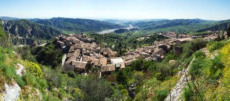 Cattolica and Bivongi  a panoramic view Stock Photo