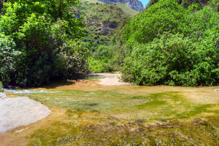 solarize: The river of Cavagrande in Sicily