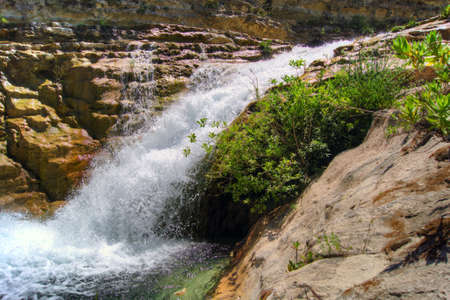 De rivier van Cavagrande in Sicilië Stockfoto