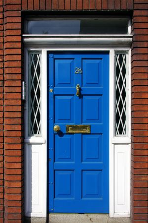 Blue Georgian Door, Dublin, Ireland Stock Photo - 4868905