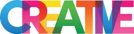 Colored rainbow text Vektorové ilustrace