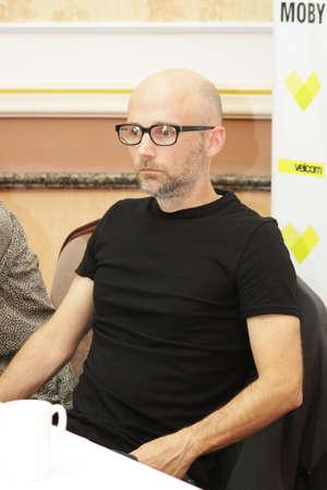 electronica: MINSK, BELARUS - JUNE 9  Moby at the press conference on June 9, 2011 in Minsk, Belarus