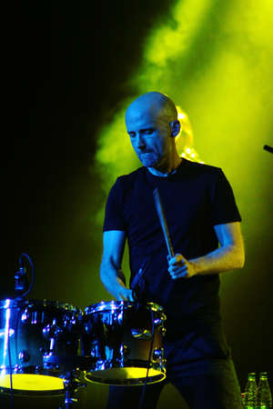 electronica: MINSK, BELARUS - JUNE 10  Moby performs at Minsk-Arena on June 10, 2011 Editorial