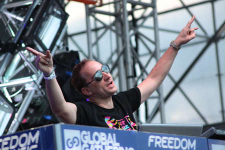 MINSK, BELARUS - JULY 6  Paul van Dyk at the Global Gathering Festival on July 6, 2013 in Minsk