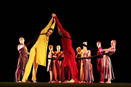 balletic: VITEBSK, BELARUS - NOVEMBER 22  Members of the Yevgeny Panfilov Ballet Studio from Perm perform  Romeo and Juliet  during IFMC on November 22, 2013 in Vitebsk, Belarus