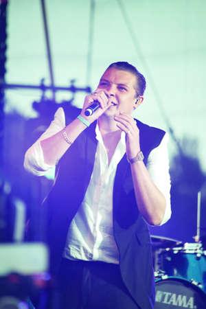 most talent: MINSK, BELARUS - JULY 03: John Newman performs at Most festival on July 3, 2014 in Milnsk, Belarus