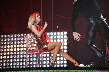 ukranian: VITEBSK, BELARUS - JULY 17: Ukranian singer Loboda (Svetlana Loboda) performs during the 25th Slavyansky Bazar Festival on July 17, 2016 in Vitebsk, Belarus