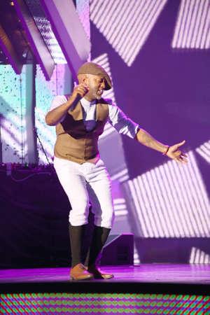 VITEBSK, BELARUS - JULY 17: French singer Willy William performs during the 25th Slavyansky Bazar Festival on July 17, 2016 in Vitebsk, Belarus Editorial