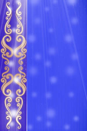 Elegant celebration design with blue background photo