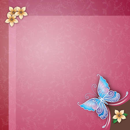 EleElegant celebration design with butterfly photo