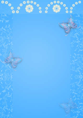 Elegant background design with butterfly photo