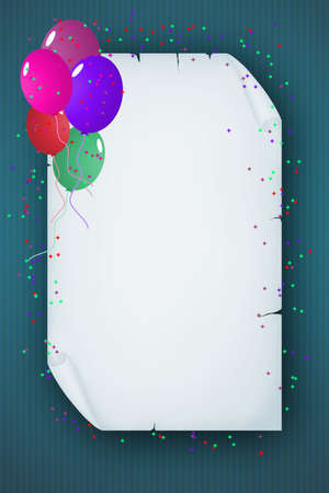 Template for Happy Birthday Greeting Card with place for text  photo