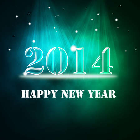 Happy New Year Celebration With Lighting Background 2 photo
