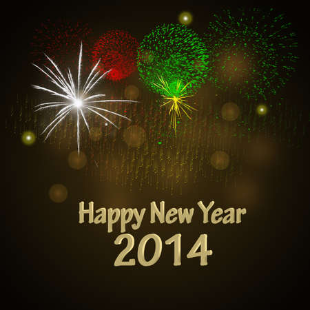 Happy New Year Design with fireworks  photo