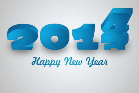 Happy New Year with 3D number, 4 drops and replace 3