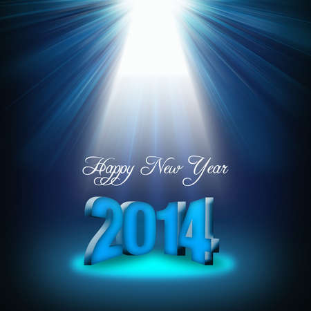 date night: New Year design with lighting and 3D number