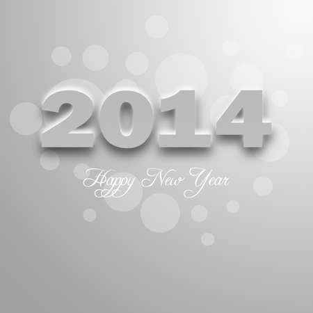 New Year design on white paper Stock Photo