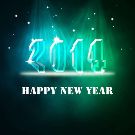 New Year design with lighting background and 3D number-2