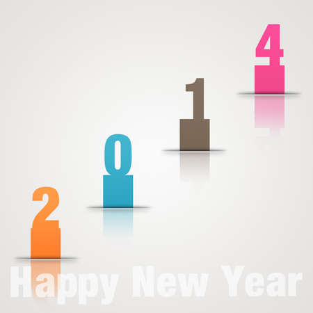 New Year design; number in colour paper-2 Stock Photo