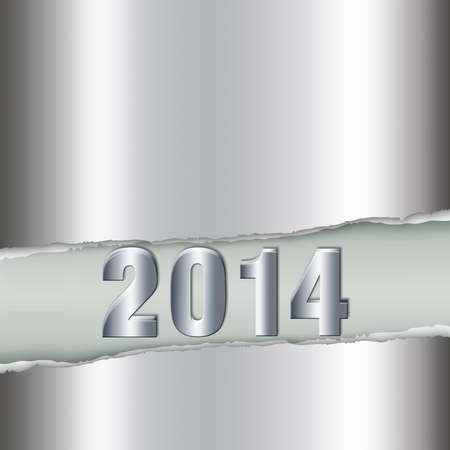 New Year design with metal background and number-1 photo