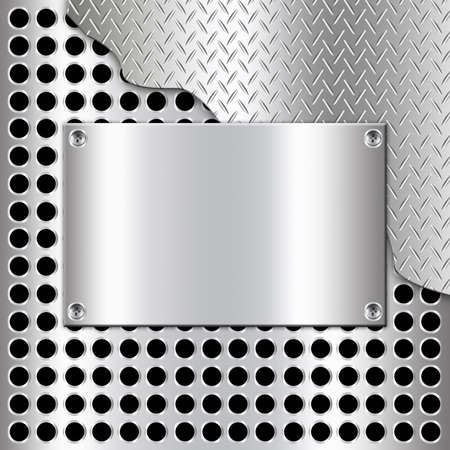 Metal background design with rectangle-1 photo