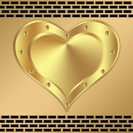 Metal background design with heart-5 photo