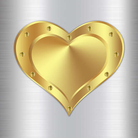 Metal background design with heart-3 photo