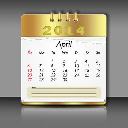 Paper April Calendar