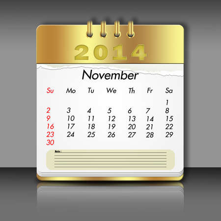 date night: Paper November Calendar