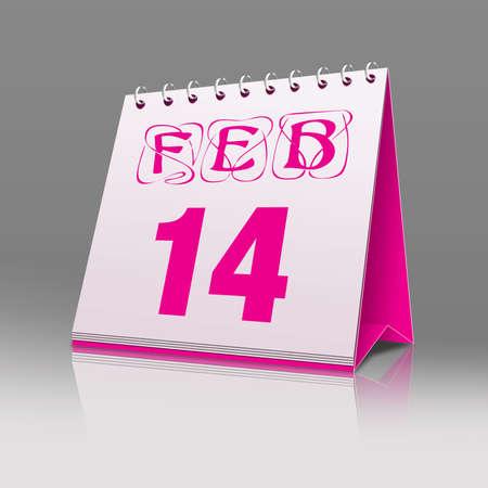 Sheet of the calendar valentine
