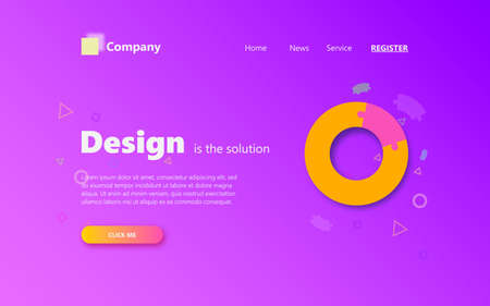 Digital website template design. Vector web page design for website and landing page.
