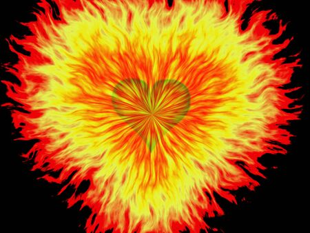 heartshaped: Illustration of heart sign with explosion effect
