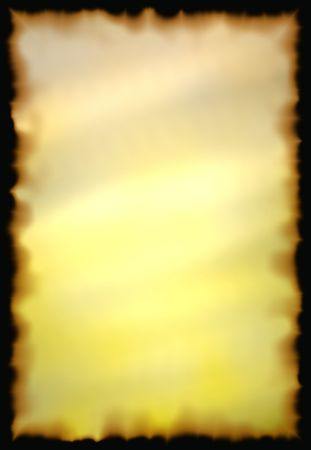 burnt edges: Old Paper With Burnt Edges over black background