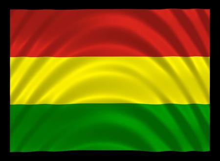 reggae: Wavy drapeau jama�cain couleur avec fond noir