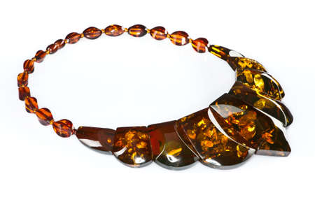 magnificence: Amber necklace Stock Photo