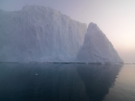 the arctic ocean: glaciers are melting in Greenland on the arctic ocean Stock Photo