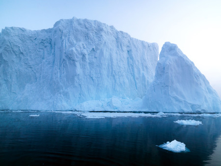 glaciers are melting in Greenland on the arctic ocean Stock Photo