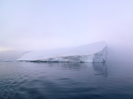 the arctic ocean: Icebergs are on the arctic ocean in Greenland Stock Photo