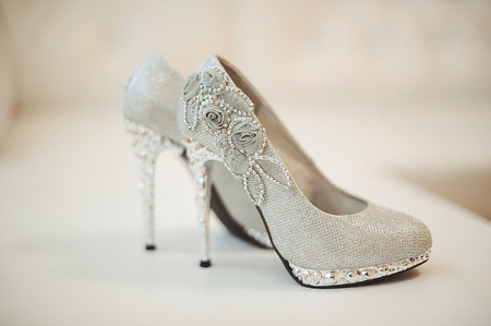 chaussures de mariage de la mariée