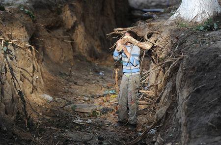the boy in a ravine